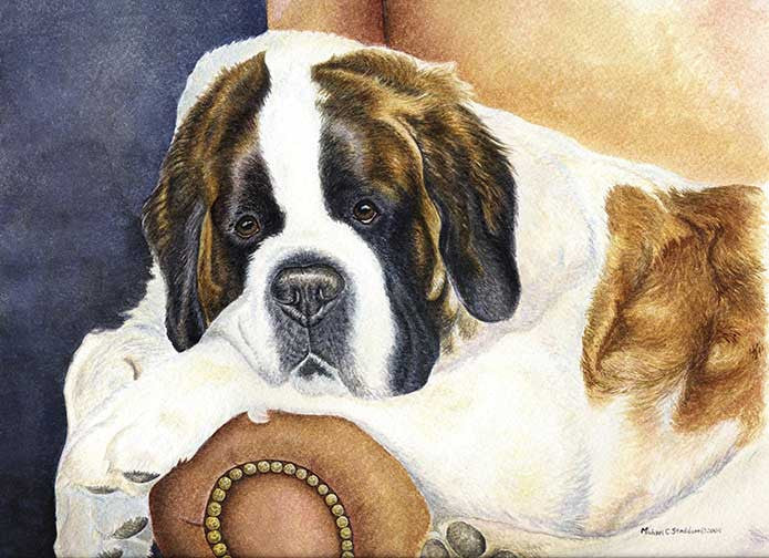 """Dad's Chair"" A Limited Edition Saint Bernard Print"