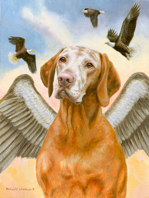 """Soar with Eagles"" Limited Edition Vizsla Print"