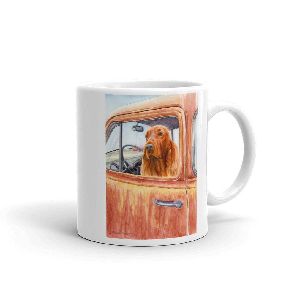 """Dusty Road"" Irish Setter 11oz Coffee Mug"