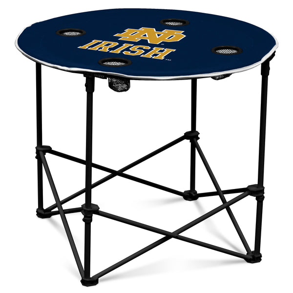 Notre-Dame-Navy/White-Round-Table