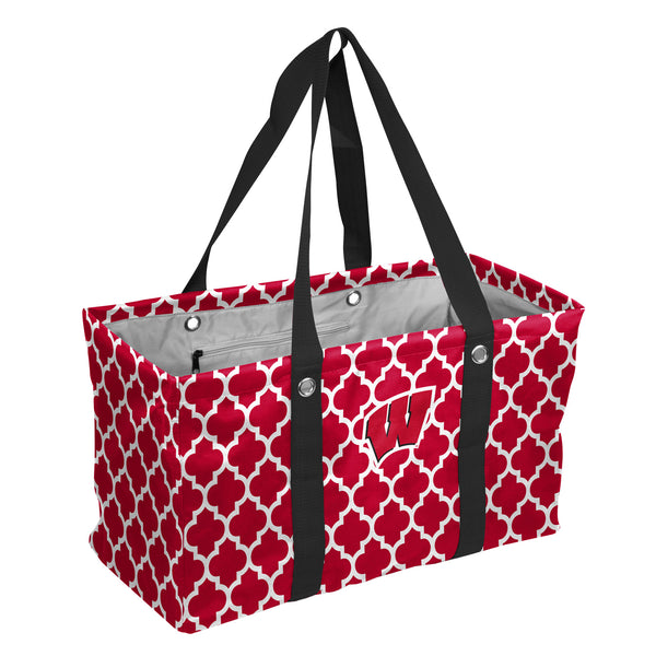 Wisconsin-Quatrefoil-Picnic-Caddy