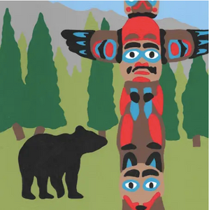 Totem Pole - 10 Color Paint by Number Kit