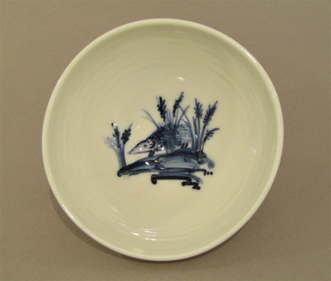 Hedgehog Design Bowl, Hand-Painted Porcelain by Mia Sarosi