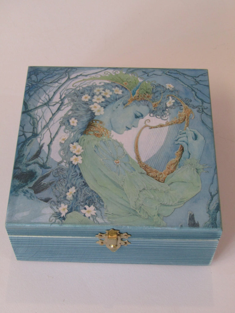 Wooden Jewellery Box by Monika Maksym featuring Ed Org Artwork