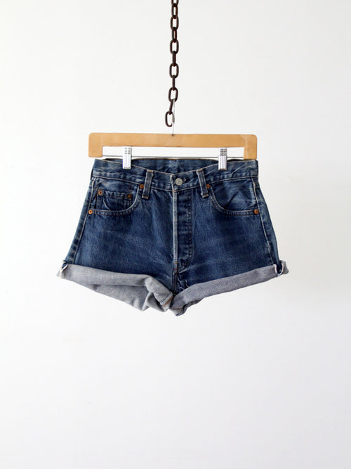 Levi's 501 red line selvedge cut off shorts, waist 28