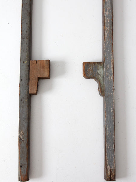 vintage wooden stilts
