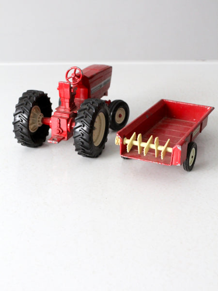 vintage International toy tractor and trailer