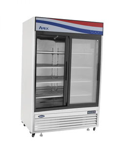 Two Sliding Doors Refrigerator | Bottom Mount | Atosa | MCF8709