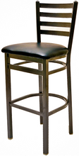Load image into Gallery viewer, Clear Coat Ladderback Metal Frame Barstool