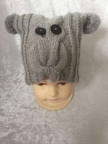 Owl Hat -Silver Grey