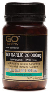 GO Garlic 20000mg Low Odour 30vcaps