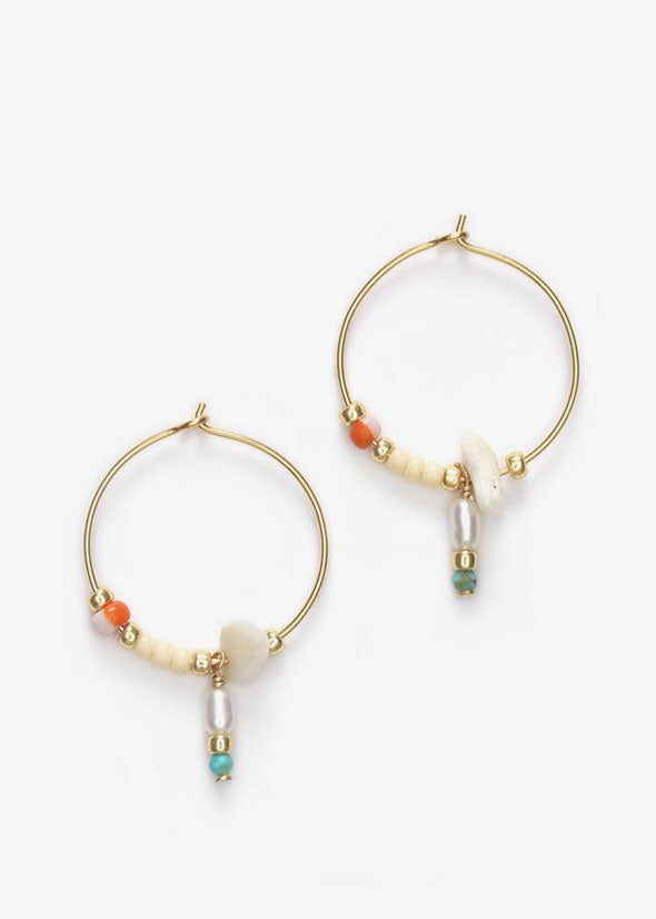 Hanalei Hoop Earrings Blonde