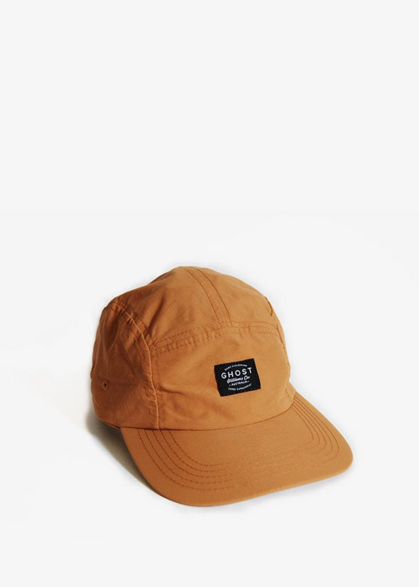 Nylon 5-Panel Hat Ochre Clay