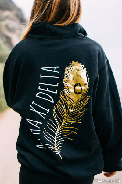 Alpha Xi Delta Foil Feather Quarter Zip