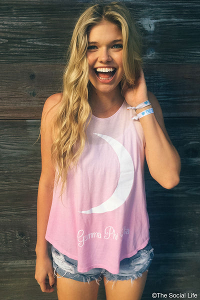 Gamma Phi Beta Ombre Crescent High Neck Tank