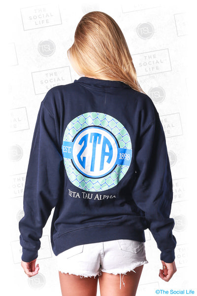 Zeta Tau Alpha Navy Quarter Zip