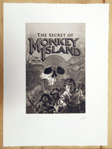 Secret of Monkey Island print by Maya Pixelskaya
