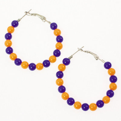 Seasons Jewelry Florida Beaded Hoop Earrings