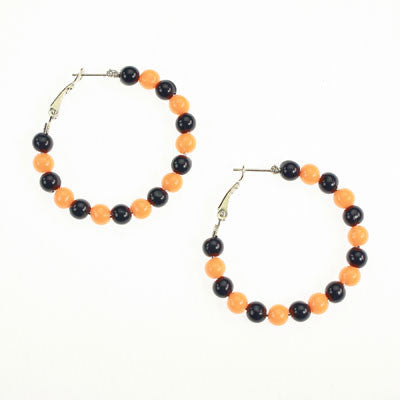 Seasons Jewelry Illinois Beaded Hoop Earrings