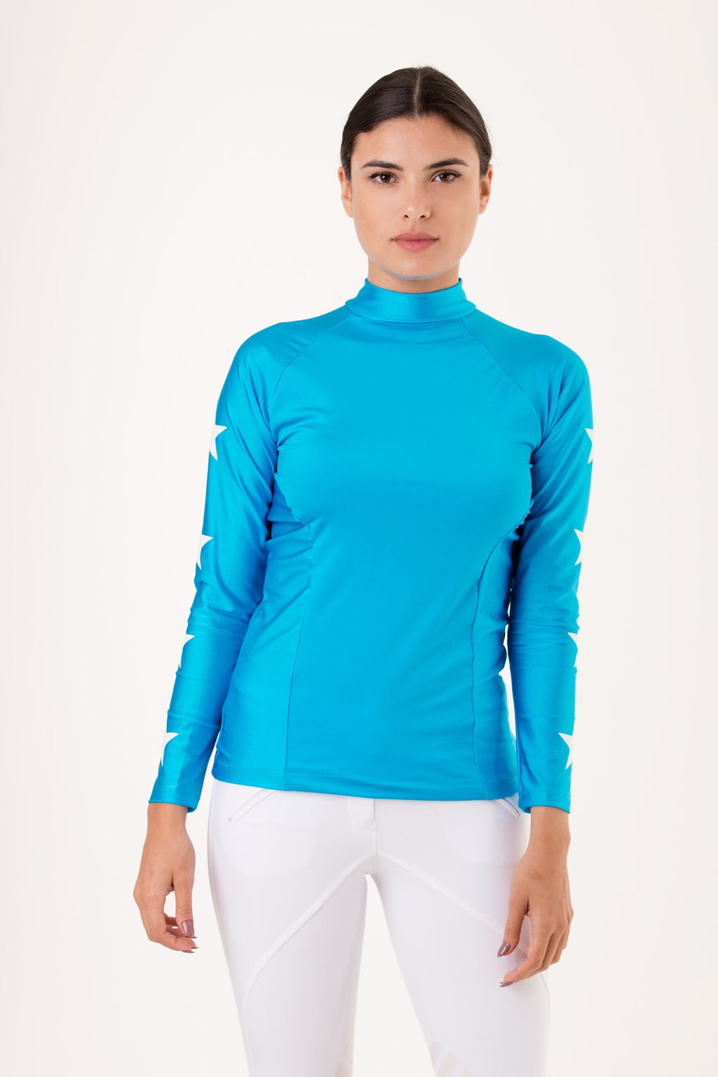 Teal & White Constellation Baselayer