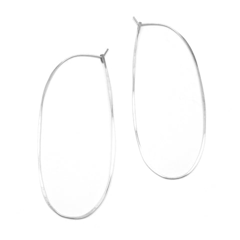Extra Large Oval Hoop Earrings