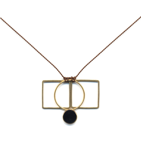 Circle Gets The Square Pendant Necklace