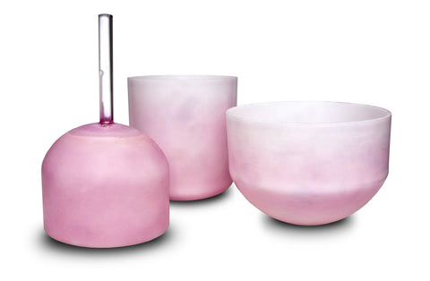 Pink Ocean Gold Alchemy Crystal Singing Bowl