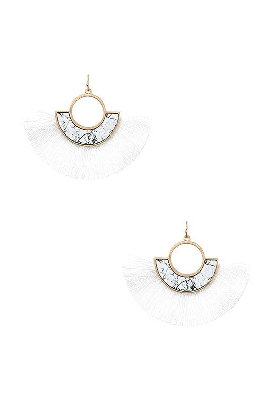 Ren Tassel Earrings - White