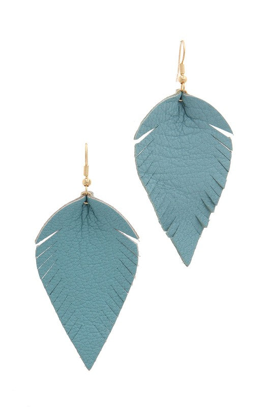 Fray Pointed Drop Earrings in Blue - BOMSHELL BOUTIQUE