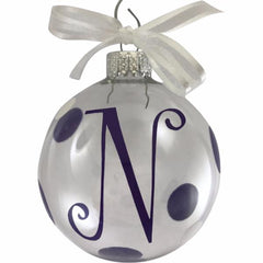 Modern Holiday Glass Christmas Ornament