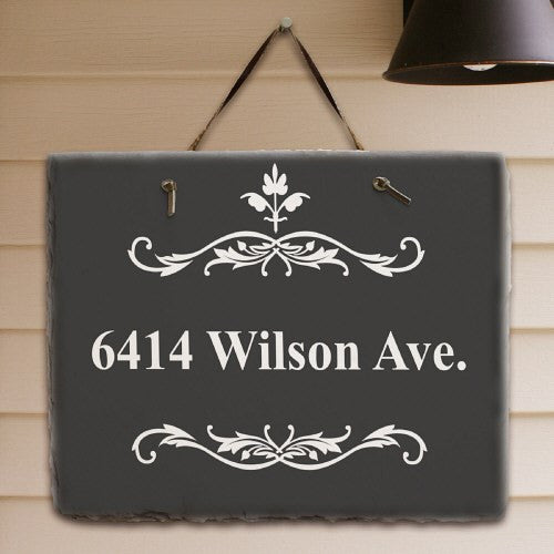 Filigree Welcome Slate Plaque