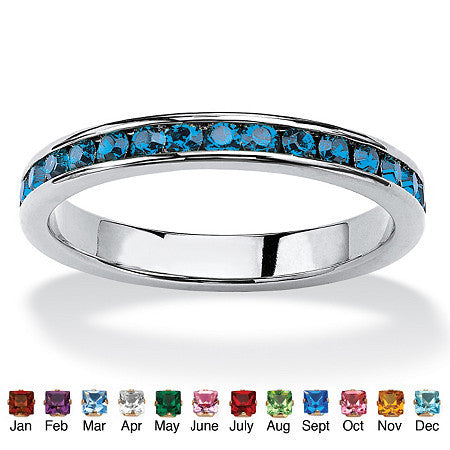 Birthstone Stackable Eternity Ring
