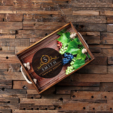 Personalized Custom Wood Serving Tray