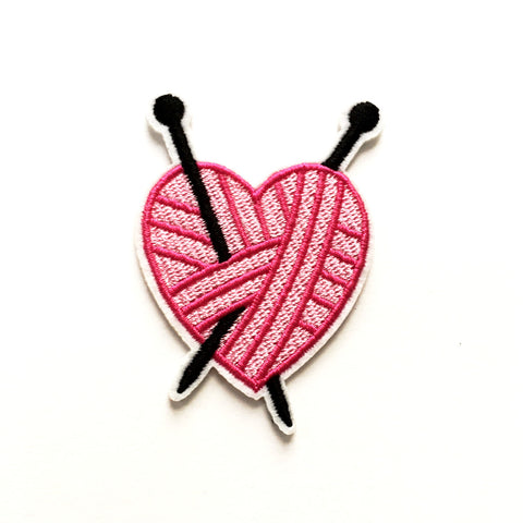Iron-on Patch: I Heart Knitting