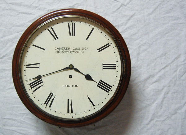 Early Twentieth Century Art Deco Period Wall Clock by Camerer Cuss & Co, London