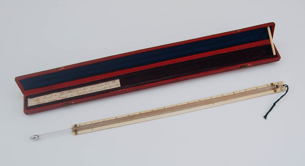 Early Victorian Large Cased Meteorological Thermometer by Patrick Adie of London