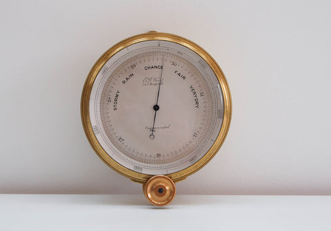 Mid Victorian Surveyors Aneroid Barometer by EG Wood of Cheapside London