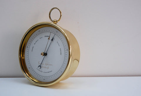 Mid-Victorian Aneroid Barometer by Dubois & Casse for Lennie Opticians Edinburgh