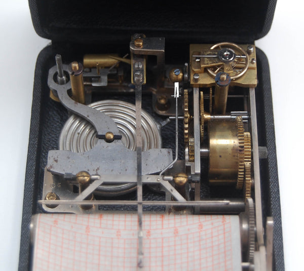 Rare Cased Pocket Aneroid Barograph Altimeter by Richard Freres of Paris
