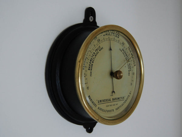 Victorian 'The Universal Barometer' for the use of Mariners, Agriculturist, Horticulturists etc.
