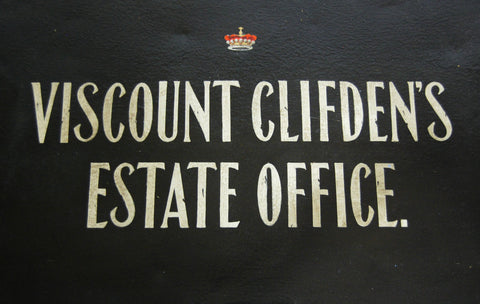 Victorian Painted Deed Box for Viscount Clifden's Estate Office
