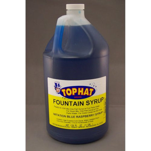 TOP HAT Blue Raspberry Snow Cone Syrup - gal. - $11.95