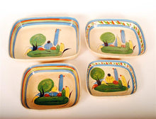 Load image into Gallery viewer, Vintage Mexican Stacking Set Redware Pottery 4pcs