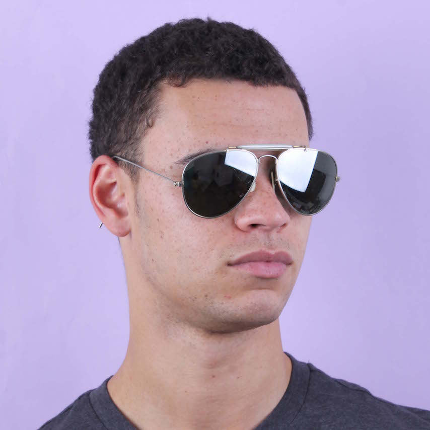 Vintage Mirrored Ray-Ban Aviators