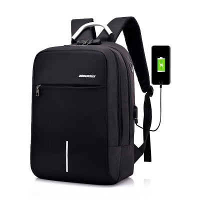 women USB Backpack laptop bag anti-theft computer bag - XenoStudio