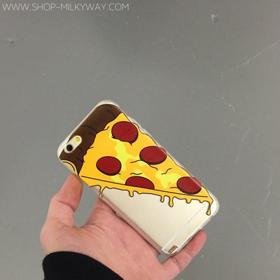 Pizza Slice - Clear TPU Case Cover - Milkyway Cases -  iPhone - Samsung - Clear Cut Silicone Phone Case Cover