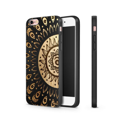 Black Bamboo - Sunshine Aztec - Milkyway Cases -  iPhone - Samsung - Clear Cut Silicone Phone Case Cover