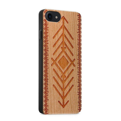 Wood  - Tribal Arrow - Milkyway Cases -  iPhone - Samsung - Clear Cute Silicone Phone Case Cover