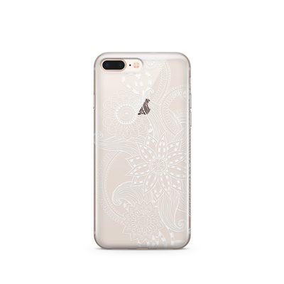 Mehndi Henna - Clear TPU Case Cover - Milkyway Cases -  iPhone - Samsung - Clear Cut Silicone Phone Case Cover