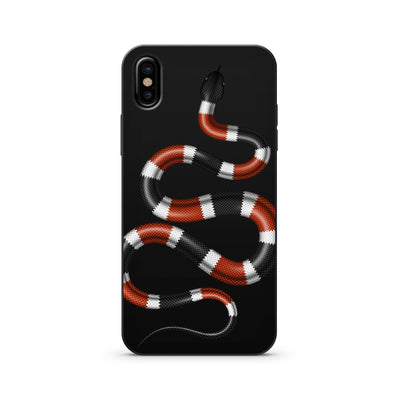 Black Wood Printed - Coral Snake - Milkyway Cases -  iPhone - Samsung - Clear Cut Silicone Phone Case Cover